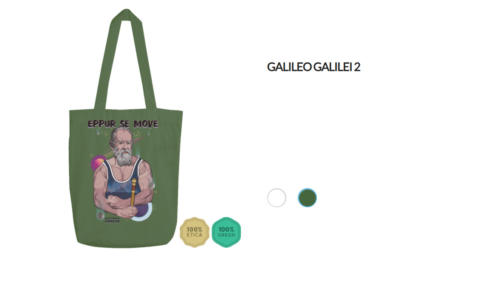 "Shopper Galileo Galilei ""Eppur se move"""