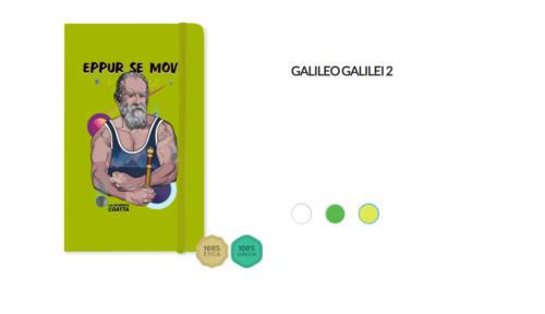 "Taccuino Galileo Galilei ""Eppur se move"""