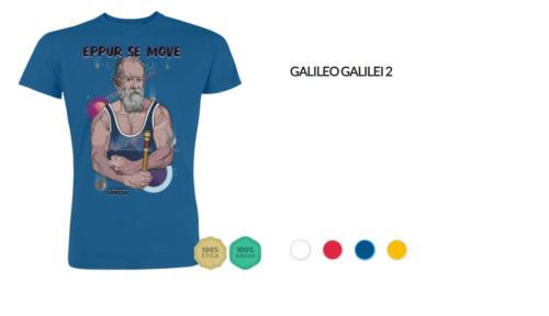 "T-shirt Galileo Galilei ""Eppur se move"""