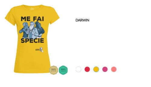 """T-shirt Darwin """"Me fai specie"""""""