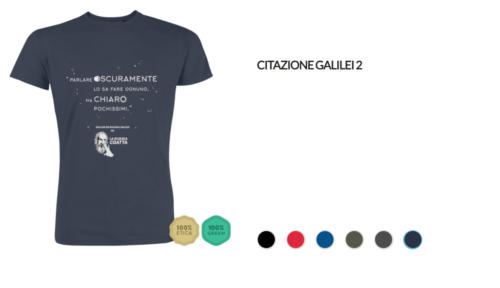 T-shirt Galilei - Parlare oscuramente