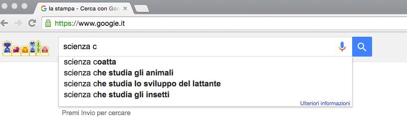 Google Scienza c