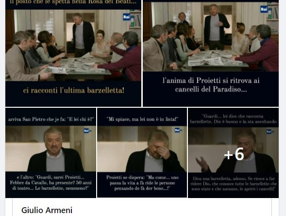 Post Giulio Armeni - Gigi Proietti